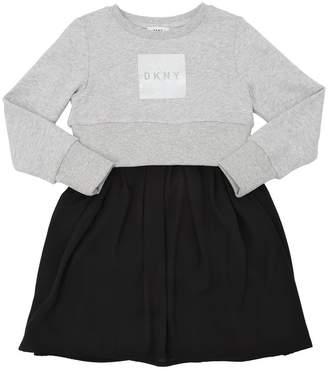 DKNY Cotton Sweatshirt & Georgette Dress