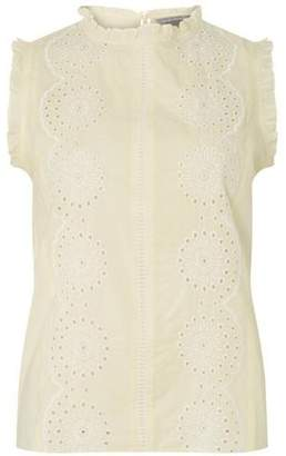 Dorothy Perkins Womens Petite Pale Yellow Shell Top