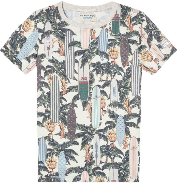 Tropical Print T-Shirt The Pool Side