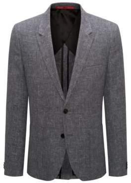 HUGO Boss Wool Linen Sport Coat, Extra Slim Fit Arti 40R Black