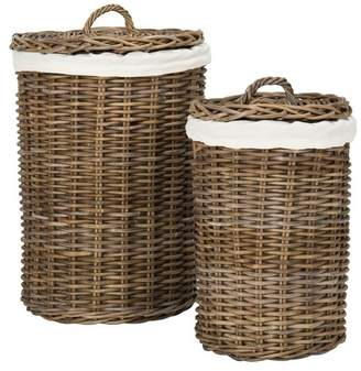 Safavieh Millen Rattan Round 2-Piece Laundry Baskets Set