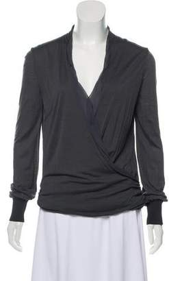 CNC Costume National Plunging Wrap Top