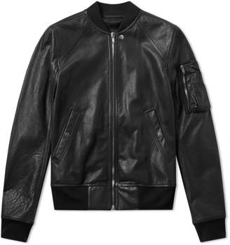 Rick Owens Calf Skin Raglan Leather Jacket