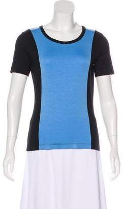 St. John Colorblock Short Sleeve Top w/ Tags