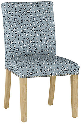 One Kings Lane Kean Side Chair - Blue Cheetah