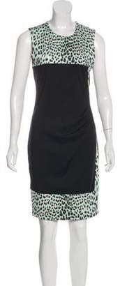 Just Cavalli Printed Knee-Length Dress Black Printed Knee-Length Dress