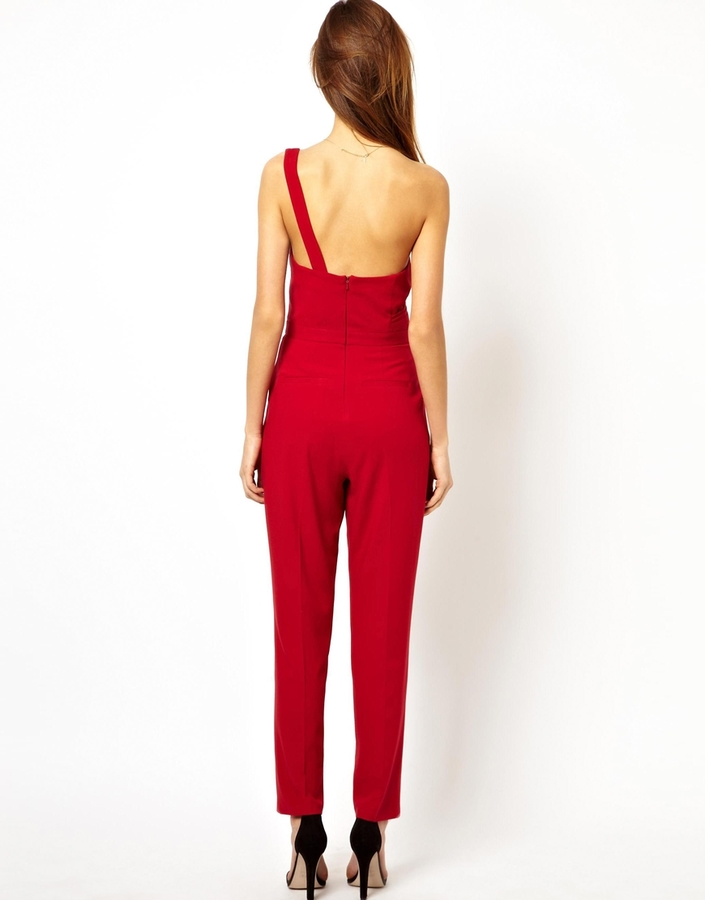 Asos Jumpsuit With One Shoulder and Open Back