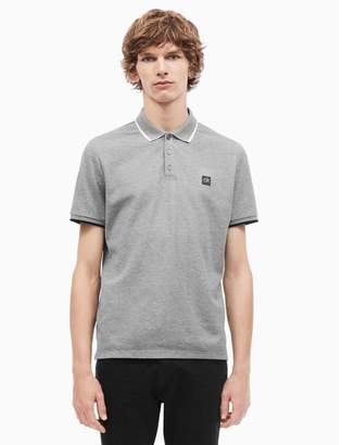 Calvin Klein regular fit striped logo polo shirt