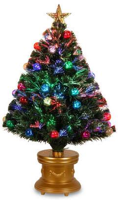 "National Tree Company National Tree 36"" Fiber Optic Fireworks Tree with Ball Ornaments"
