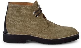 Giuseppe Zanotti Stitching Suede Chukka Boots