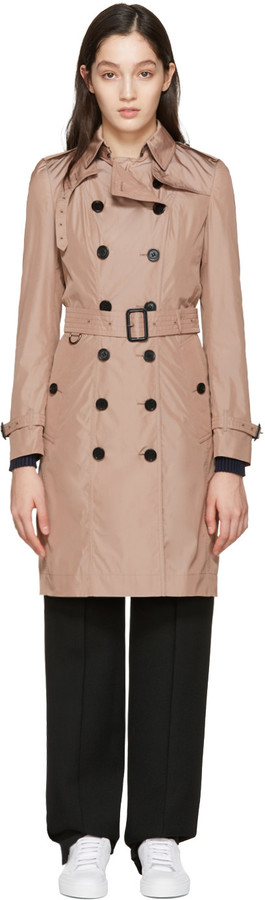Burberry Pink Sandringham Trench Coat