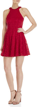Bebop Lace Halter Skater Dress