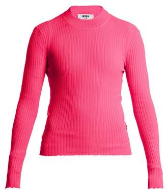 MSGM Ribbed Knit Top - Womens - Pink