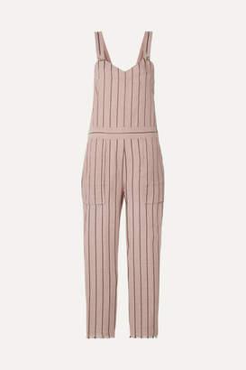 Rag & Bone Nina Striped Linen-blend Jumpsuit - Pastel pink