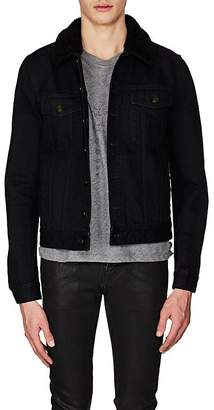 Saint Laurent Men's Shearling-Lined Denim Jacket