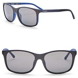 Timberland Square 56mm Polarized Sunglasses
