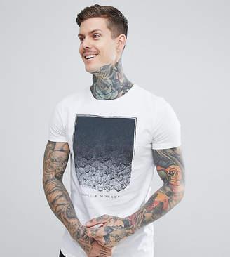 Noose & Monkey Longline Printed T-Shirt With Logo