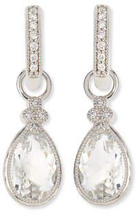Jude Frances Pear Provence White Topaz & Diamond Earring Charms