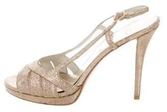 Stuart Weitzman Glitter Platform Sandals