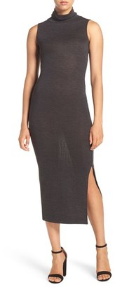 French Connection 'Sweeter' Turtleneck Sweater Midi Dress $128 thestylecure.com