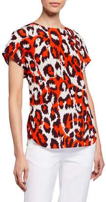 Diane von Furstenberg Nellie Printed Short-Sleeve Blouse