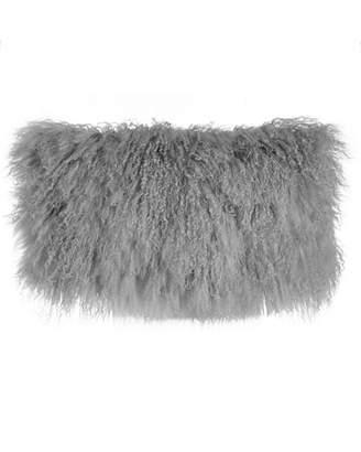 "Donna Karan Home Moonscape Flokati Wool Pillow, 11"" x 22"""