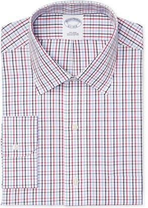 Brooks Brothers Men's Slim-Fit Non-Iron Red Tattersall Dress Shirt