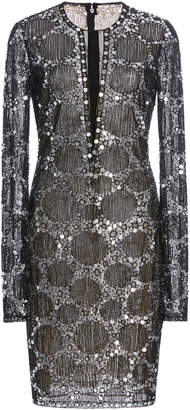 Naeem Khan Long Sleeve Embellished Dress