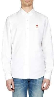 Ami Cotton Button-Collar Button-Down Shirt