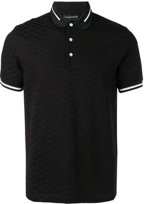 Emporio Armani black polo top