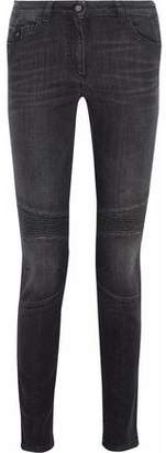 Belstaff Ribbed-Paneled Mid-Rise Skinny Jeans