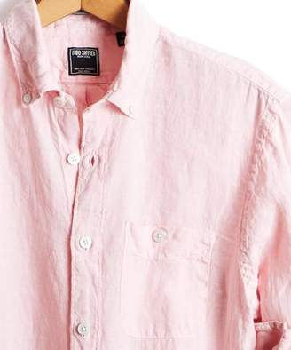 Todd Snyder Slim Fit Linen Button Down Shirt in Pink