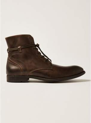 Topman Mens Brown Tan Leather Moriarty Brogue Boots