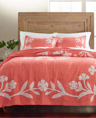 Martha Stewart Collection Hibiscus Medallion King Quilt, Created for Macy's