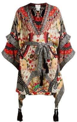 Camilla Belted Floral Print Silk Kimono Dress - Womens - Red Multi