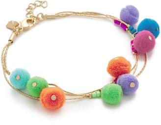 Rebecca Minkoff Savanna Pom Pom Bracelet $68 thestylecure.com