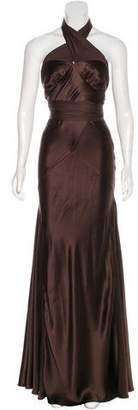 Amanda Wakeley Silk Halter Maxi Dress
