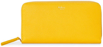 mulberry Yellow Leather Zip-Around Wallet $430 thestylecure.com