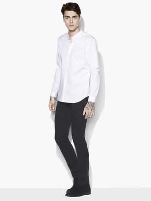 John Varvatos Solid Band Collar Shirt