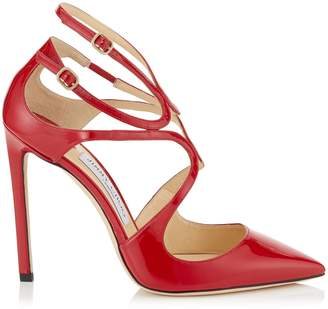 Jimmy Choo LANCER 110 Red Patent Leather Pointy Toe Pumps