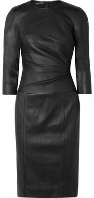 Narciso Rodriguez Stretch-leather Dress - Black