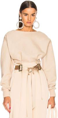 Sally Lapointe Cotton Jersey Open Back Corset Top