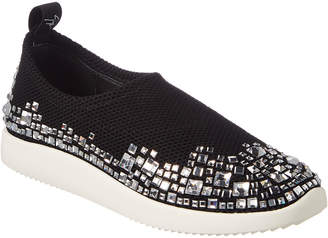 Giuseppe Zanotti Embellished Mesh & Leather Low-Top Sneaker
