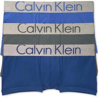 Calvin Klein Men's 3-Pk. Steel Low-Rise Trunks