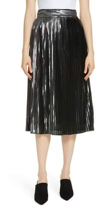 BA&SH Palace Micropleat Metallic Skirt
