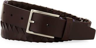 Robert Graham Filberto Braided Leather Belt