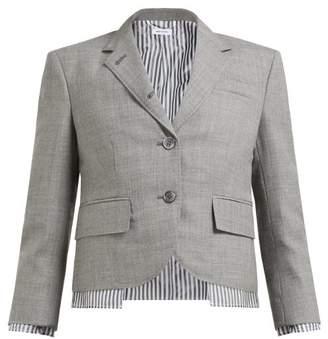 Thom Browne Little Boy Single Breasted Wool Twill Jacket - Womens - Grey Multi