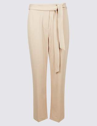 Marks and Spencer Belted Straight Leg Trousers