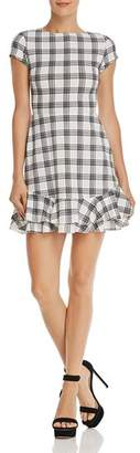 Aqua Tiered-Hem Plaid Dress - 100% Exclusive