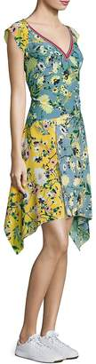 Tommy Hilfiger Women's Patchwork Floral Silk Dress